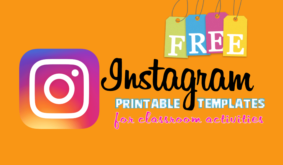 FREE Printable Instagram Template for Student Activities