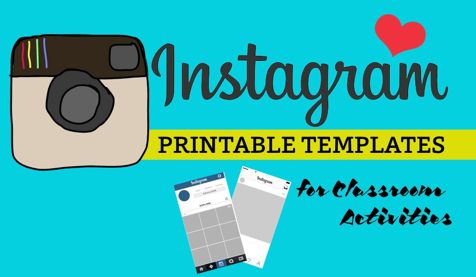 Printable instagram template for student activities for Design home resources generator