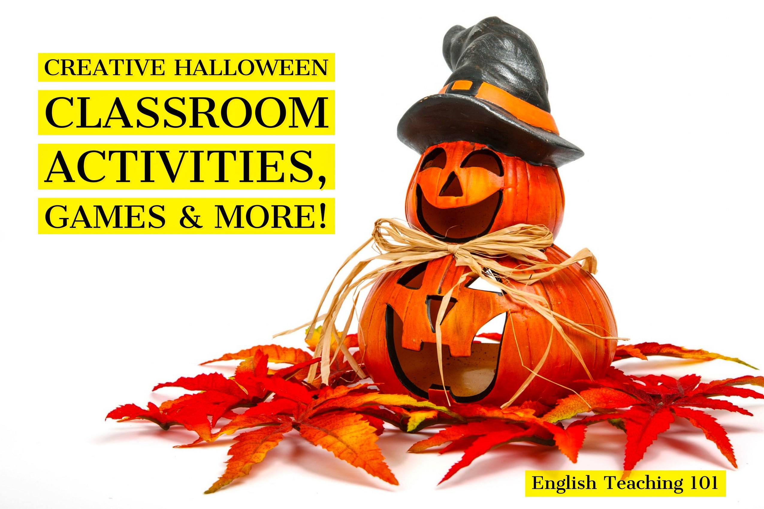 Halloween classroom activities
