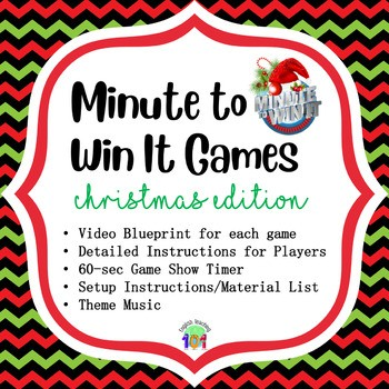 fun christmas classroom activities - minute to win it party
