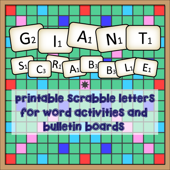 Giant scrabble english teaching 101english teaching 101 for Large letter scrabble game