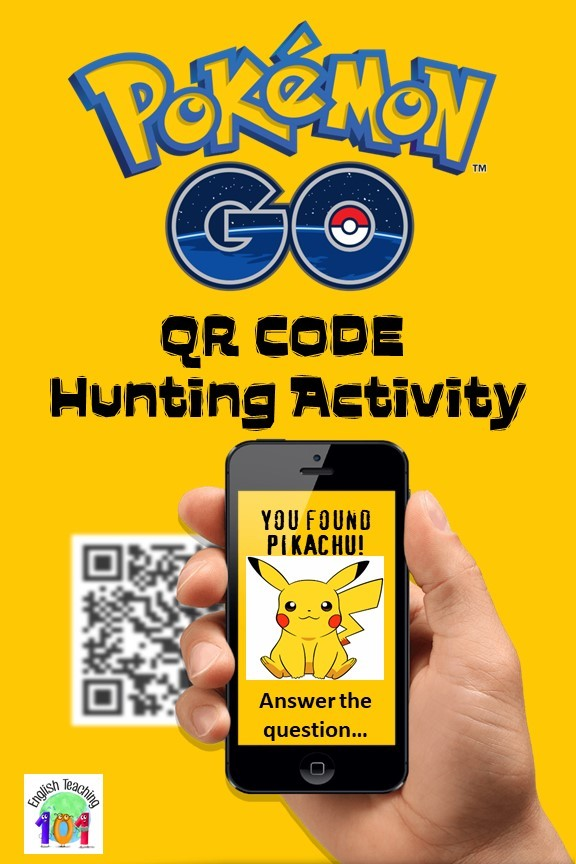 Make reviews more fun with QR Code Classroom Activity based on the mobile game Pokemon Go! #QRCode #ClassroomActivity #EdTech #TreasureHunt