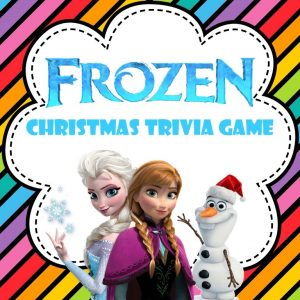 Frozen Christmas trivia game