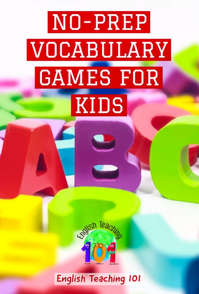 No-prep ESL Vocabulary Games For Kids