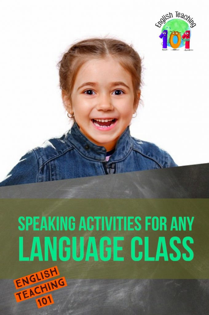 classroom conversation activities for esl / efl classes