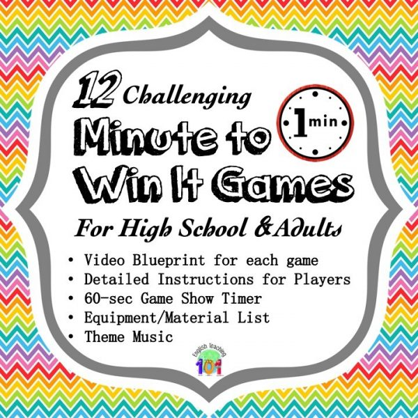 minute to win it games for high school and adults