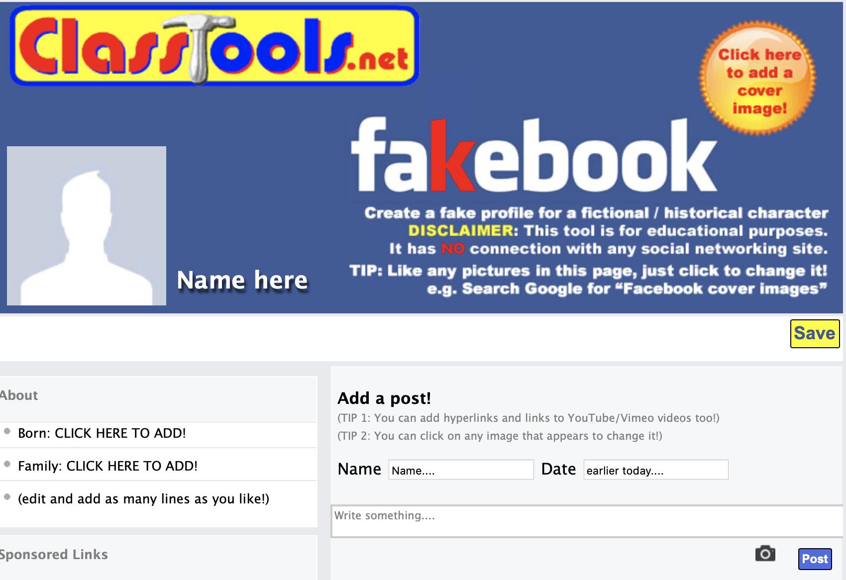 fakebook generator