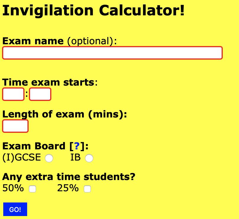 exams timer