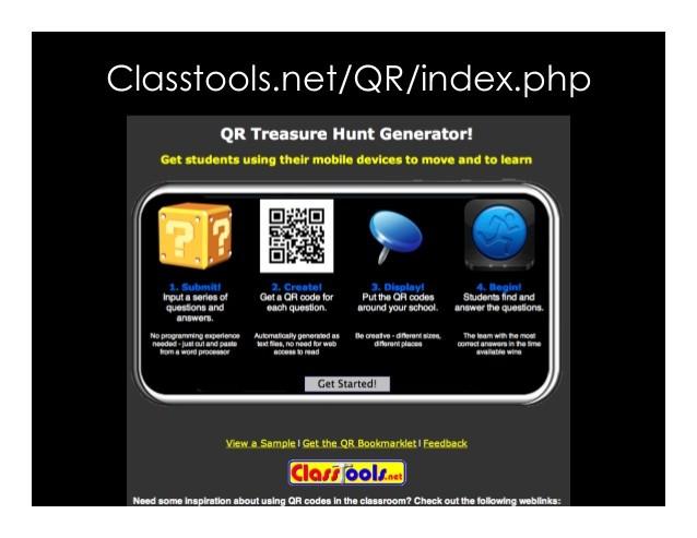 qr code generator classtools.net