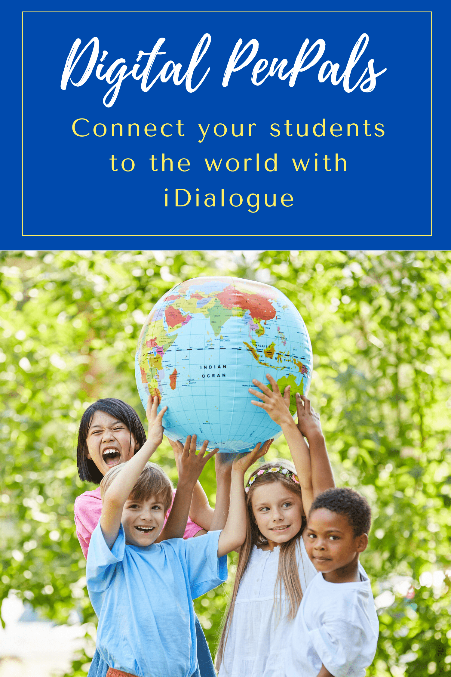 iDialogue is an online ecosystem for collaborative learning, language practice and cross-cultural communication for student language immersion.