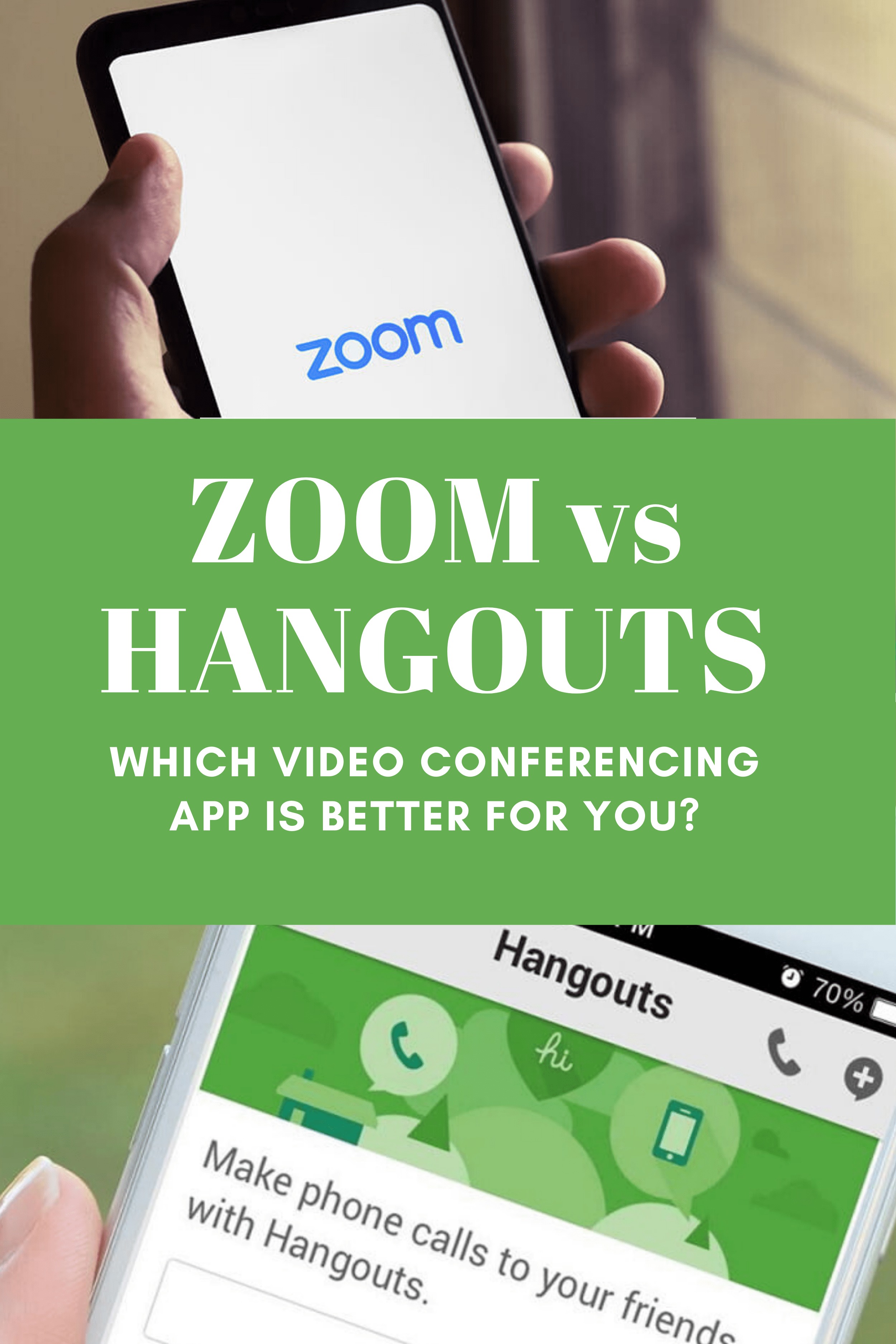 video conferencing apps: zoom and hangouts features