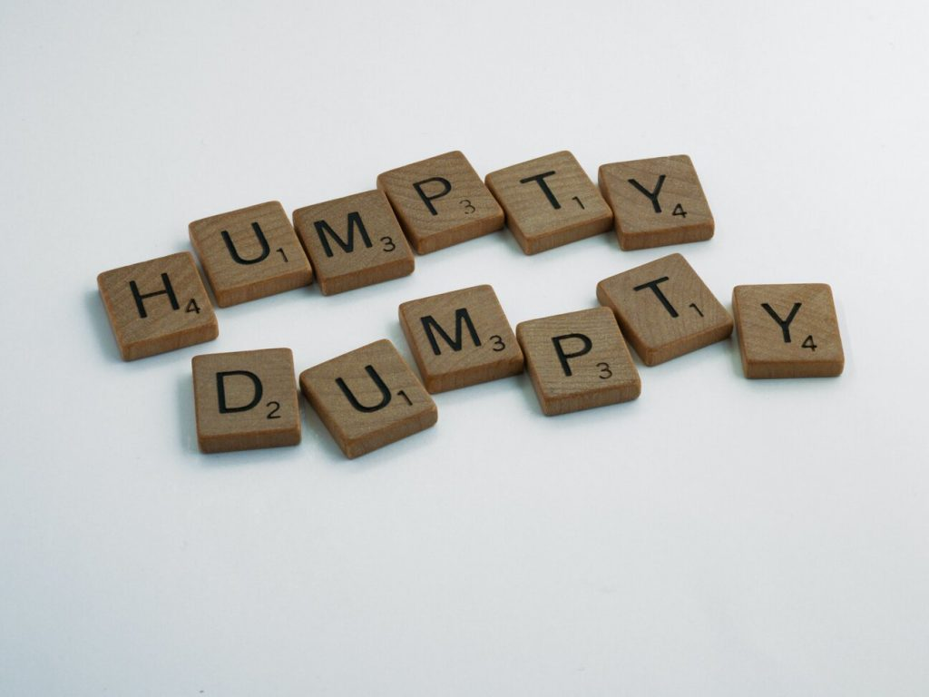 Humpty Dumpty - one of the  reading games